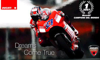 Ducati World Moto Grand Prix Champion 2007.